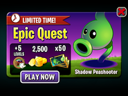 Epic Quest - Shadow Peashooter