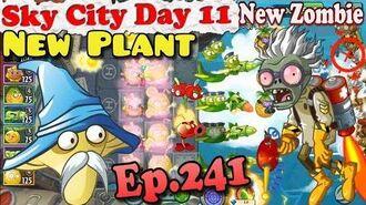 Plants vs. Zombies 2 (China) - New Lightning Gun Zombie - New Freeze Mushroom - Sky City Day 11