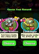 Choice between Gadget Scientist and Zookeeper