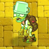 Buckethead Adventurer Zombie (Carrying Plant Food)