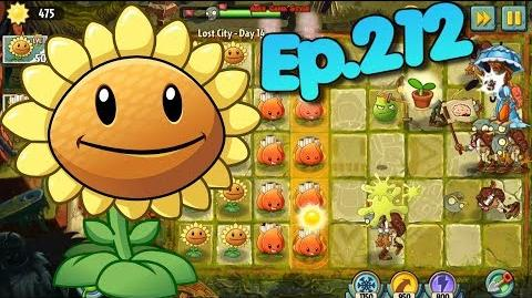 Plants vs. Zombies 2 Sunflower, Lava Guava, A.K.E.E. - Lost City Day 14 (Ep