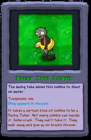 Almanac Card Ducky Tube Zombie