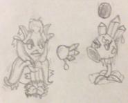 Firebloom Queen Fighting Ice Queen Pea