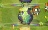 Dead Leprechaun Imp upon landing