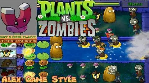 Plants vs. Zombies Adventure Got a Magnet-shroom level 4-8 Fog (Android Gameplay HD) Ep