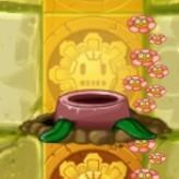 Olive Pit on Gold Tile