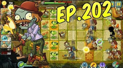 Plants vs. Zombies 2 New Excavator Zombie - Zombie with shovel - Lost City Day 4 (Ep