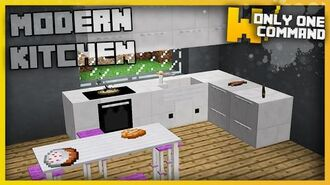 Minecraft - MODERN KITCHEN FURNITURE With Only Two Command Blocks!