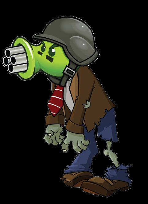 gatling pea zombie plants vs zombies wiki fandom
