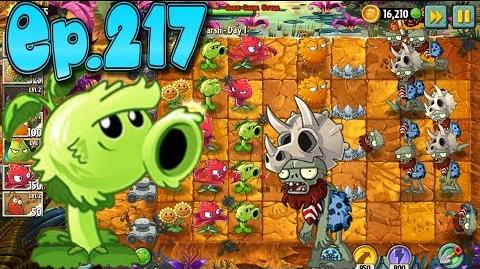 Plants vs. Zombies 2 Got a new Plant Primal Peashooter - Jurassic Marsh Day 1 (Ep