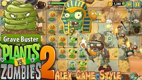 Plants vs. Zombies 2 New Explorer Zombie Got a Grave Buster Ancient Egypt Day 9 (Ep