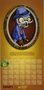 Victorian Zombie calendar