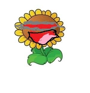 Negative sun flower