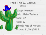 Fred The G. Cactus