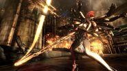 Raiden and Mistal battle