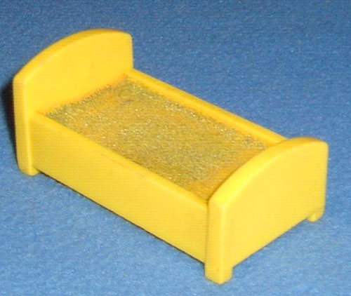 File:Yellow Plastic Rectangular Single Bed.jpg