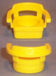 Small Plastic Yellow Single Seat Captain Chair