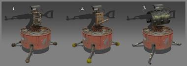 Gun turret variations