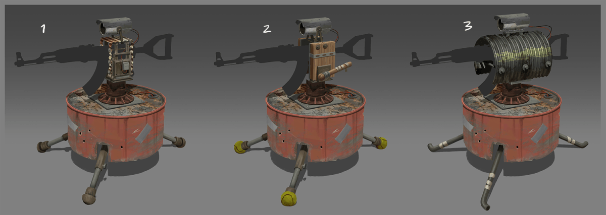 Auto turret rust wiki fandom powered by wikia some concept art for the auto turret from devblog 67 malvernweather Images