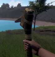 Stone pick axe in game