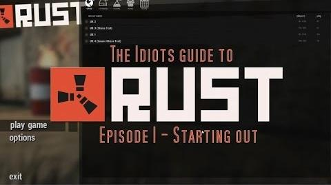 The Idiots guide to RUST - Learning the Basics