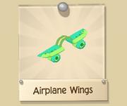 TurquoiseAndGreenAirplaneWings
