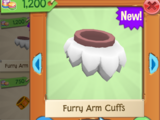 Rare Furry Arm Cuffs