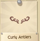 Curly antlers2TAN