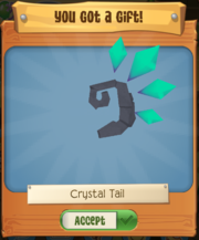 Crystal tail
