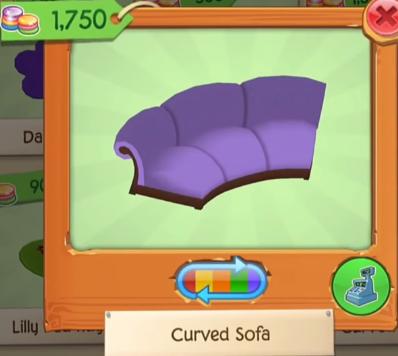 Curved Sofa | Play Wild Item Worth Wiki | FANDOM powered by Wikia