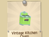 Vintage Kitchen Den Item Set