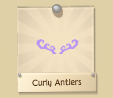 Rare Curly Antlers | Play Wild Item Worth Wiki | FANDOM