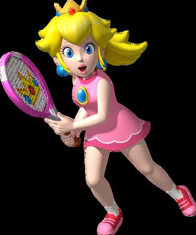 File:Princess Peach Artwork - Mario Tennis Open.png
