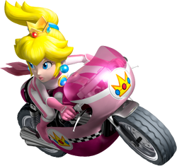 Princess Peach Artwork - Mario Kart Wii