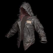 Leather Hoodie (Black) - Jacket - PUBG
