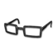 Horn-rimmed Glasses (Black) - Glasses - PUBG