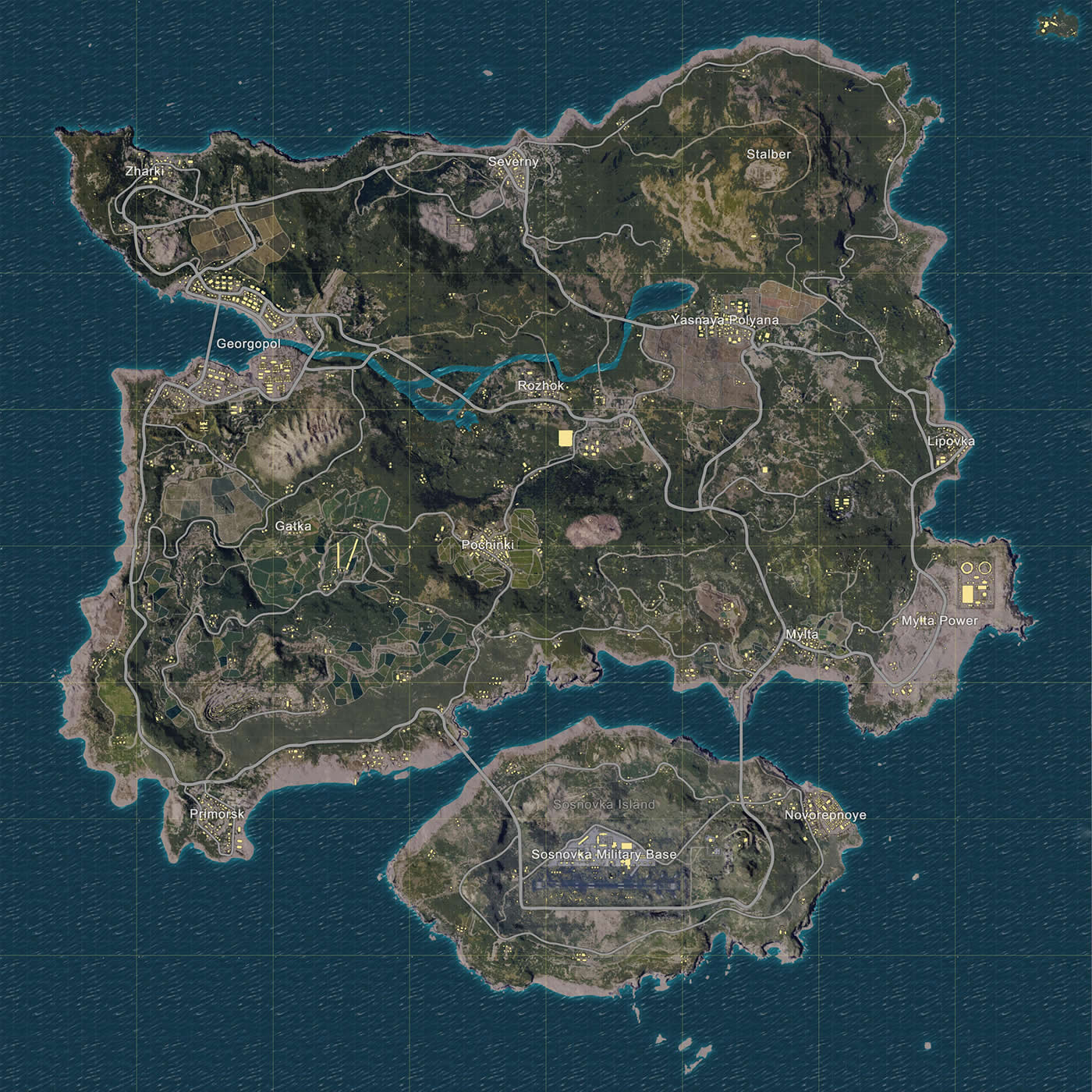 How was the primary map named Erangel.