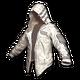 PUBG Leder-Hoodie (Weiß)