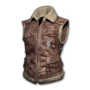 Sleeveless Biker Jacket (Brown) - Jacket - PUBG