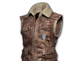 Sleeveless Biker Jacket (Brown)