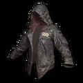Leather Hoodie (Black)