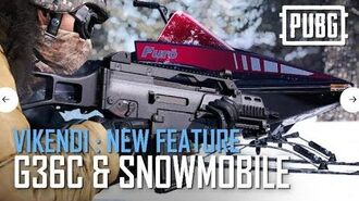 PUBG - Vikendi New Features - G36C and Snowmobile