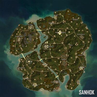 Mapa PUBG (Xbox)