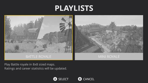 Playlists PUBG (Xbox)