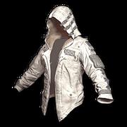 Leather Hoodie (White) - Jacket - PUBG