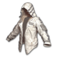 Leather Hoodie (White) - Jacket - PUBG