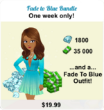BUNDLE FEMALE OUTFIT SIGN (FADE TO BLUE)