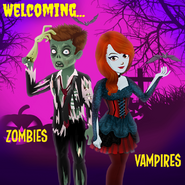 Zombies and vampires