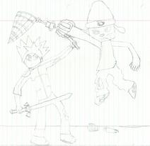Spike vs Parappa Intense Nkstjoa
