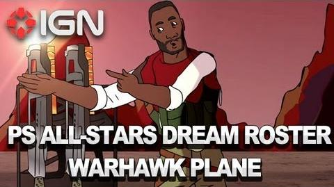 PlayStation All-Stars Dream Roster The Warhawk Plane